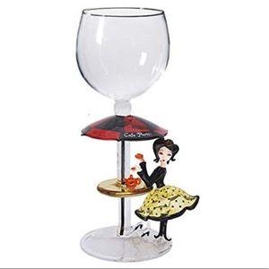 """New Yurana Designs """"Cafe De Paris"""" Wine Glass"""